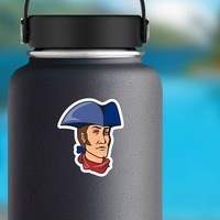 Patriot Mascot Sticker on a Water Bottle example