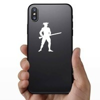 Patriot Soldier Sticker on a Phone example