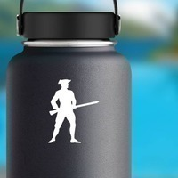 Patriot Soldier Sticker on a Water Bottle example