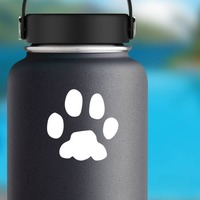 Paw Print Sticker on a Water Bottle example
