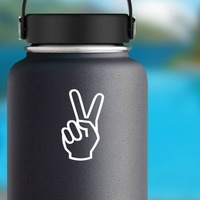 Peace Sign Sticker on a Water Bottle example