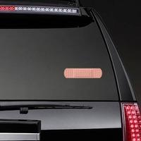 Peach Band Aid Bandage Sticker on a Rear Car Window example