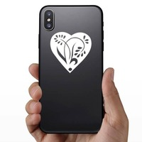 Pedaled Flower In A Heart Sticker on a Phone example