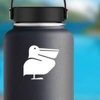 Pelican Bird on a Water Bottle example