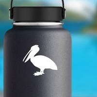 Pelican Bird Sticker on a Water Bottle example