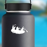 People River Rafting Sticker on a Water Bottle example