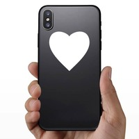 Perfect Heart Shape Sticker on a Phone example