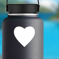 Perfect Heart Shape Sticker on a Water Bottle example