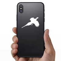 Pheasant Flying Sticker on a Phone example