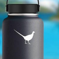 Pheasant Sticker on a Water Bottle example