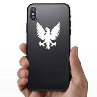 Phoenix Bird Sticker on a Phone example