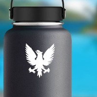 Phoenix Bird Sticker on a Water Bottle example