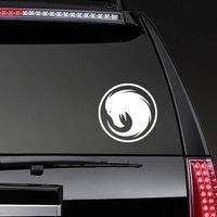 Phoenix Head Swirl Sticker on a Rear Car Window example