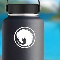 Phoenix Head Swirl Sticker on a Water Bottle example