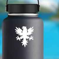 Phoenix With Claws Showing Sticker on a Water Bottle example