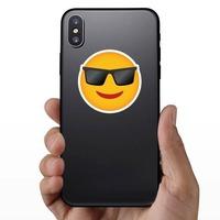 Phone Emoji Sticker Sunglasses on a Phone example