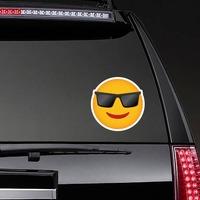 Phone Emoji Sticker Sunglasses on a Rear Car Window example