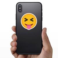 Phone Emoji Sticker Teasing on a Phone example