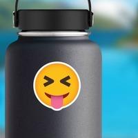 Phone Emoji Sticker Teasing on a Water Bottle example