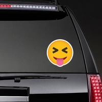 Phone Emoji Sticker Teasing on a Rear Car Window example