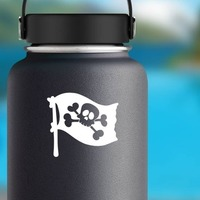 Pirate Flag Sticker on a Water Bottle example