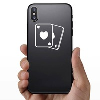 Playing Cards Hearts And Diamonds Sticker on a Phone example