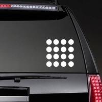 Polka Dot Circle Shapes Sticker on a Rear Car Window example