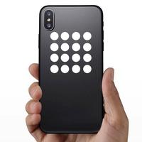 Polka Dot Circle Shapes Sticker on a Phone example