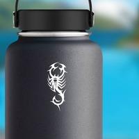 Powerful Scorpion Sticker on a Water Bottle example