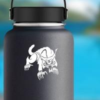 Powncing Lynx Sticker on a Water Bottle example