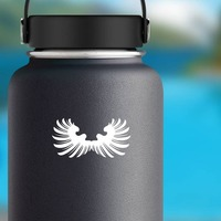 Pretty Feathered Wings Sticker on a Water Bottle example
