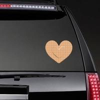Pretty Heart Band Aid Bandage Sticker on a Rear Car Window example
