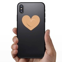 Pretty Heart Band Aid Bandage Sticker on a Phone example