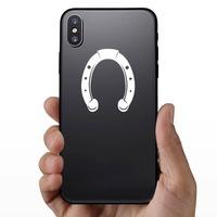 Pretty Horseshoe Sticker on a Phone example