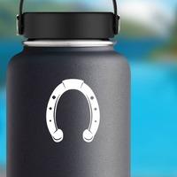 Pretty Horseshoe Sticker on a Water Bottle example