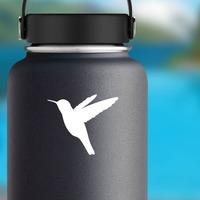 Pretty Hummingbird Sticker on a Water Bottle example