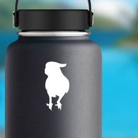 Pretty Parrot Sticker on a Water Bottle example