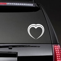 Pretty Unique Heart Sticker on a Rear Car Window example