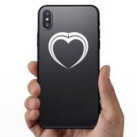 Pretty Unique Heart Sticker on a Phone example