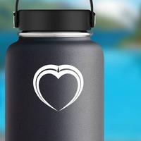 Pretty Unique Heart Sticker on a Water Bottle example
