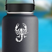 Prickly Scorpion Sticker on a Water Bottle example