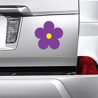 Printed Purple Daisy Flower Magnet on a Car Bumper example