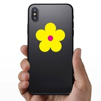 Printed Yellow Daisy Flower Sticker on a Phone example