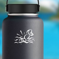 Professional Swimmer Sticker on a Water Bottle example