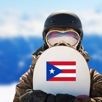 Puerto Rico Flag Sticker on a Snowboard example