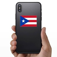 Puerto Rico Flag Sticker on a Phone example