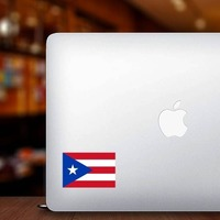 Puerto Rico Flag Sticker on a Laptop example