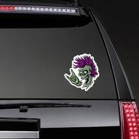 Punk Rock Cartoon Skull Sticker on a Rear Car Window example