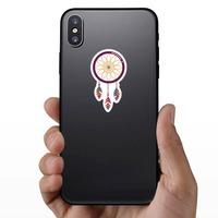 Purple Dreamcatcher Hippie Sticker on a Phone example