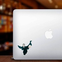 RBG Superhero Sticker on a Laptop example